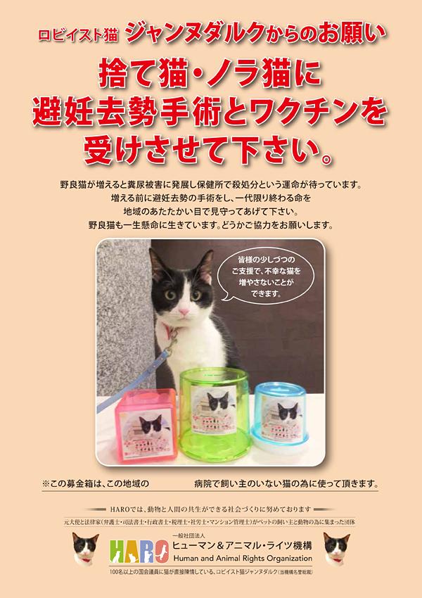 ②「地域の猫の手術ワクチン代 地域内で募金箱設置」プロジェクト